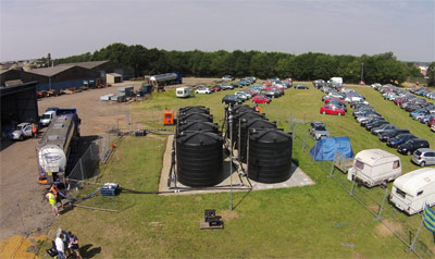 Water provision for festivals and events