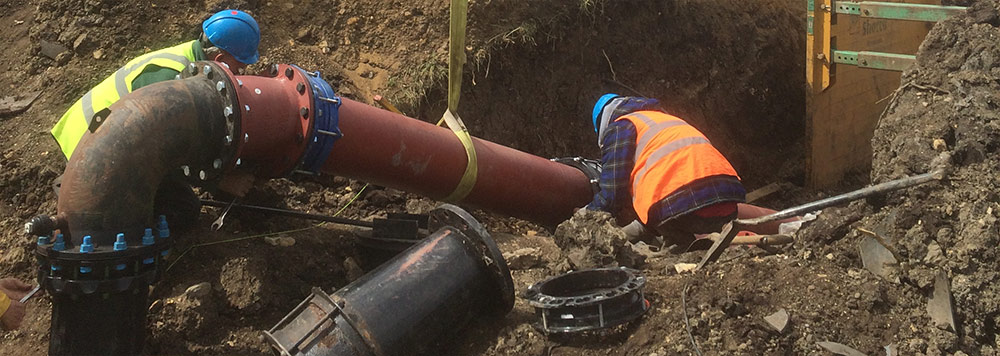Festival water pipe laying Cambridgeshire